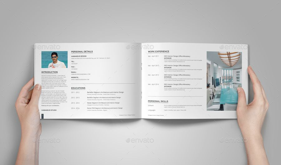 Interior Design Portfolio Template by habageud | GraphicRiver