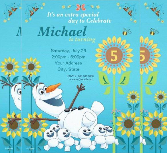 26+ Frozen Birthday Invitation Templates – Free Sample, Example ...