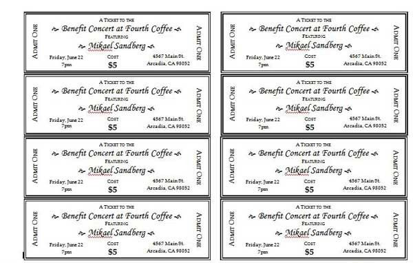 Captivating Free Event Ticket Template Printable   Thebridgesummit.co Good Looking