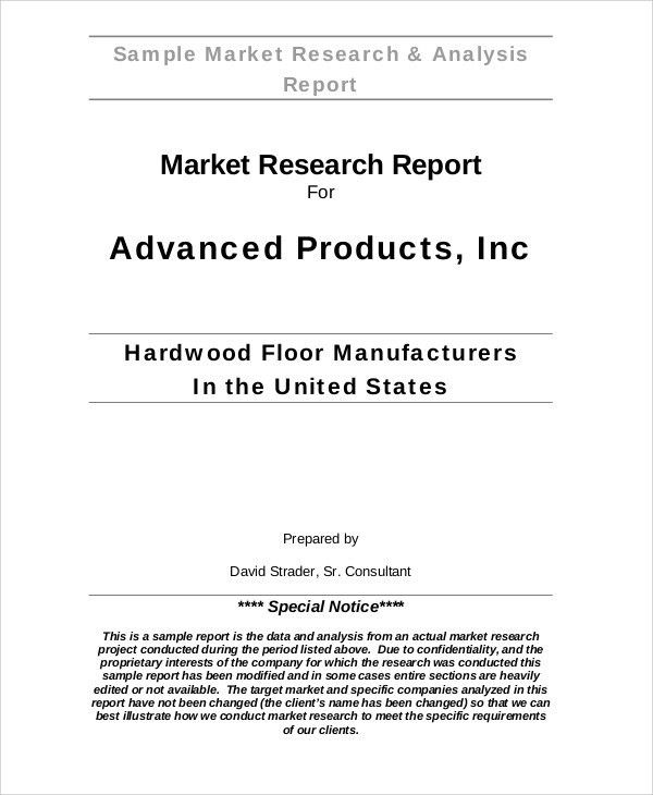 Sample Research Reports. 42; 43 Writing A Research Report Market ...