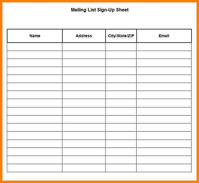 8+ sign up sheet word | cna resumed