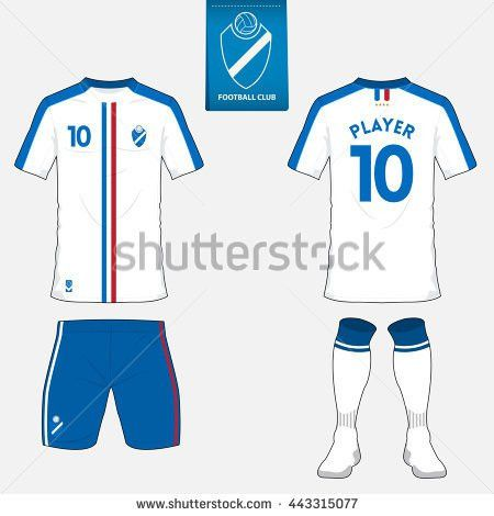 Set Soccer Jersey Football Kit Template Stock Vector 488690635 ...