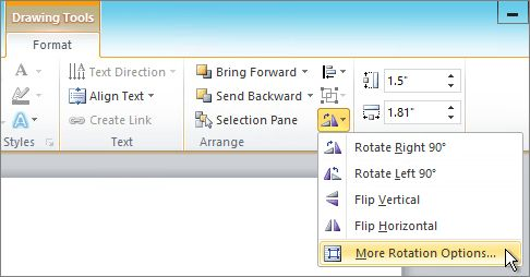 Rotate or flip a text box, shape, WordArt, or picture - Office Support