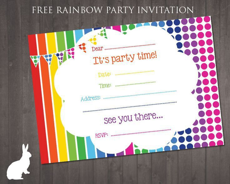 Best 20+ Rainbow invitations ideas on Pinterest—no signup required ...