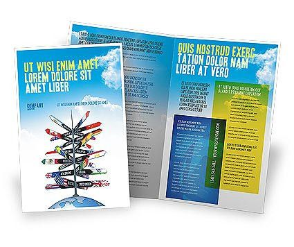 Travel Directions Brochure Template Design and Layout, Download ...