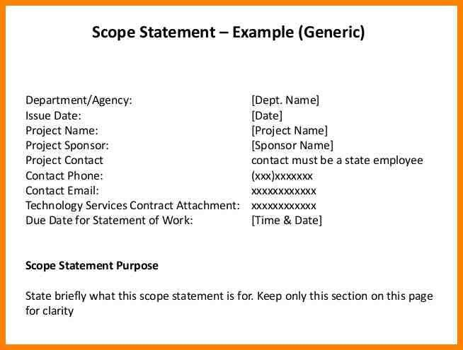 10+ out of scope statement example | resume language