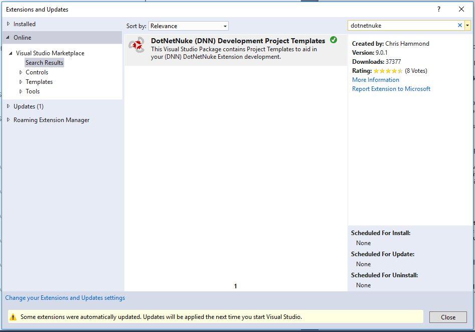 Visual Studio 2017 Development Templates for DNN (DotNetNuke ...
