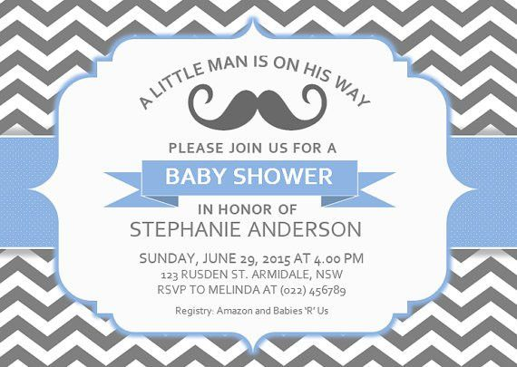 Sample Baby Shower Invitation Templates For Word And Black White ...
