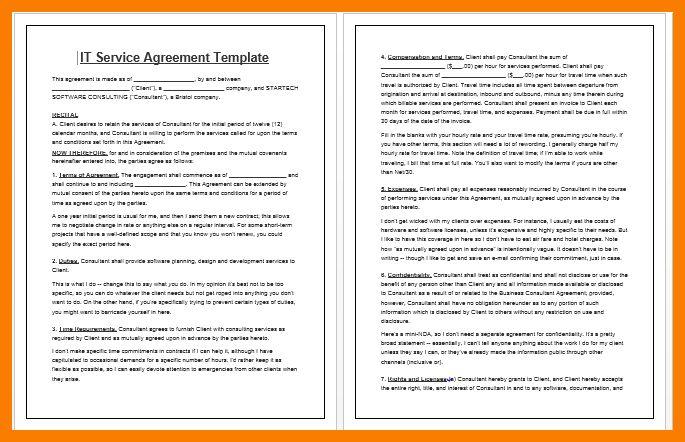 11+ service contract template   park-attendant