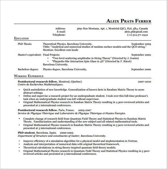 Download Resume Templates Latex | haadyaooverbayresort.com