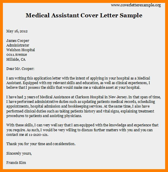 6+ example of medical assistant cover letter | job resumed
