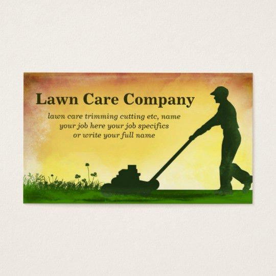 lawn care grass cutting business card   Zazzle.com