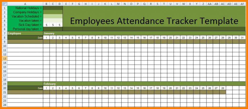 employee attendance sheet