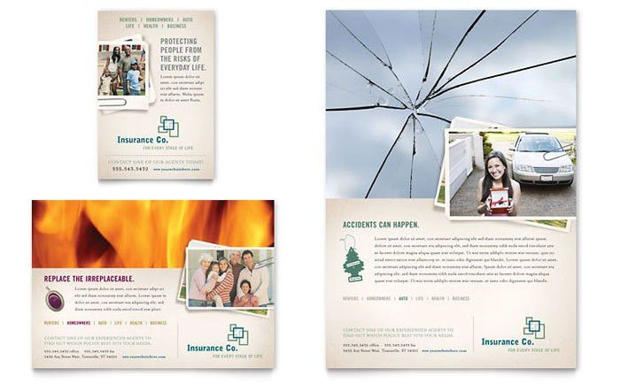 Life Insurance Company Flyer & Ad Template Design