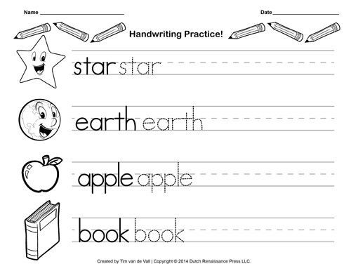 Handwriting Practice Sheet | Printable Writing Paper | Pinterest ...