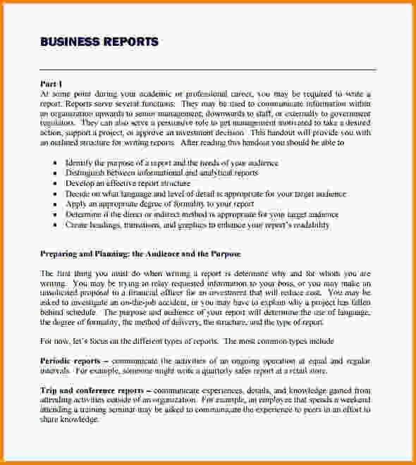 Sample Business Reports Templates 17 Business Report Templates – Business Reports Format