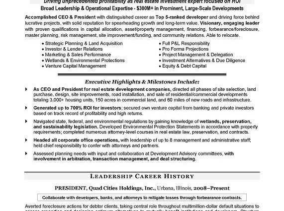 CEO Resume Examples Sample chief executive officer - Writing ...