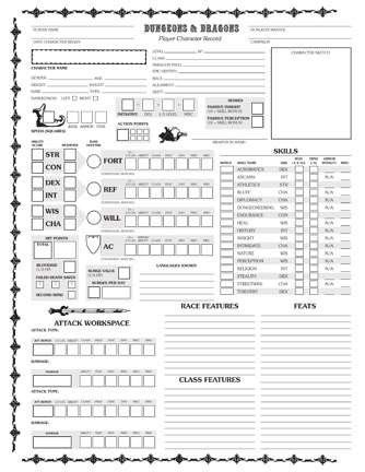 Homebrew Old School 4E Character Sheet (Goldenrod) - Now with ...