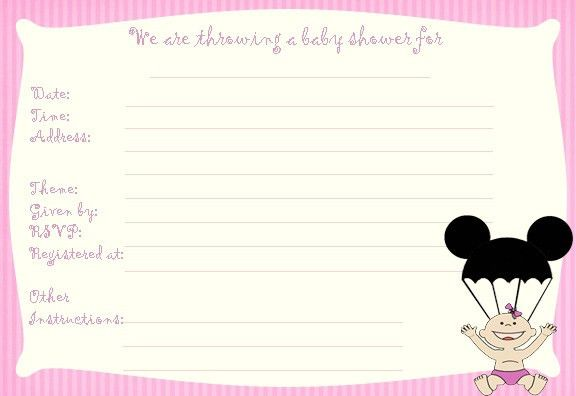 Disney Baby Shower Invitations | christmanista.com
