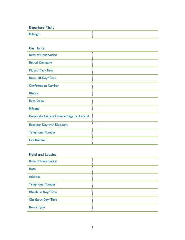 Business Travel Itinerary Template. Itinerary 03 30+ Itinerary ...
