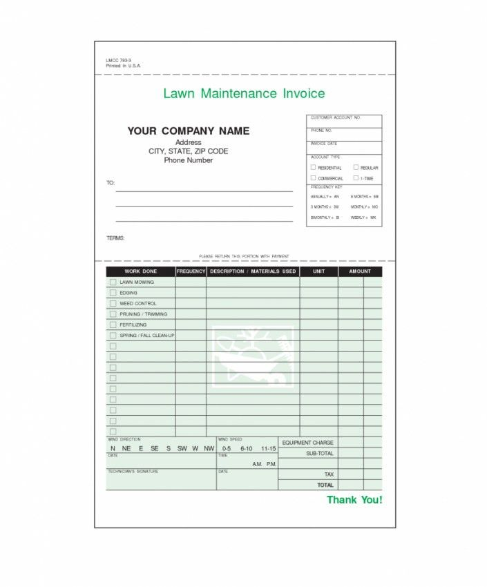 Lawn Service Invoice Template | Design Invoice Template