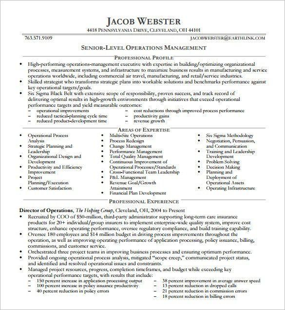 Neat Design Executive Resume Examples 3 10 Executive Resume ...