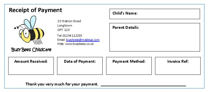 Invoices & Receipts - MindingKids