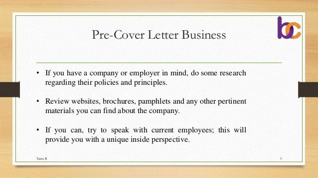 Business cover letter definition