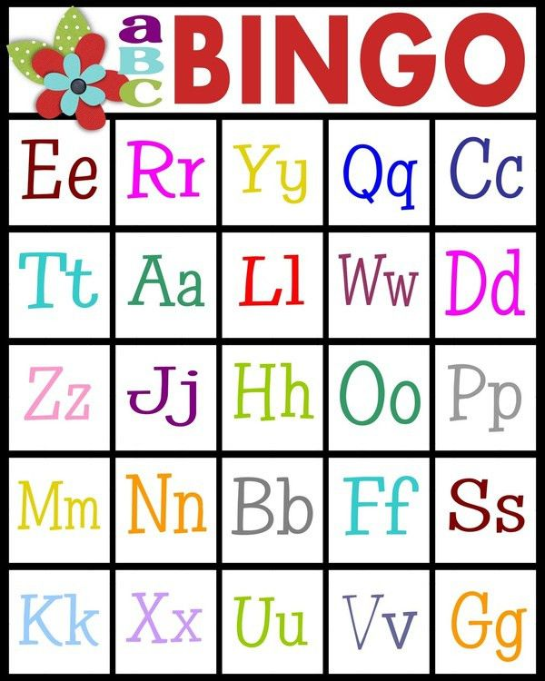 For teaching letter recognition or letter sounds - ABC Bingo for ...