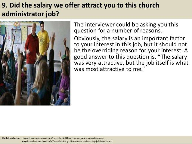 top 10 church administrator interview questions and answers
