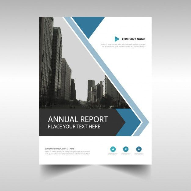 Abstract annual report brochure template Vector | Free Download