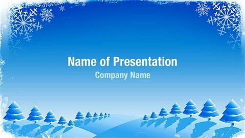 christmas card powerpoint template christmas tree template ...