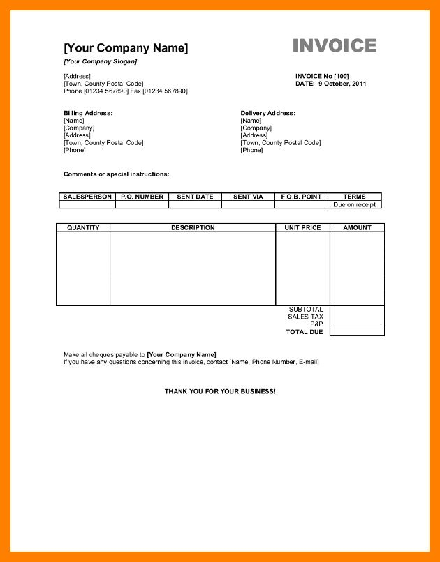 8+ invoice template excel download free | cfo resumed