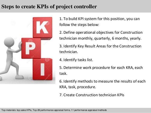 Project controller kpi