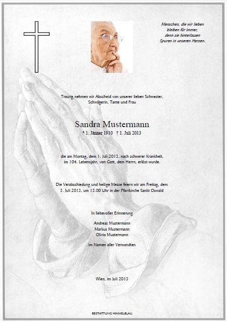 8 Best Images of Funeral Notice Samples - Sample Funeral ...