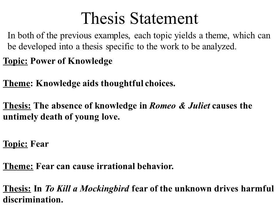 Thesis Statement. - ppt video online download