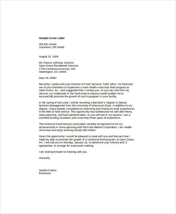 5+ Nursing Cover Letter Formats - Examples in Word, PDF