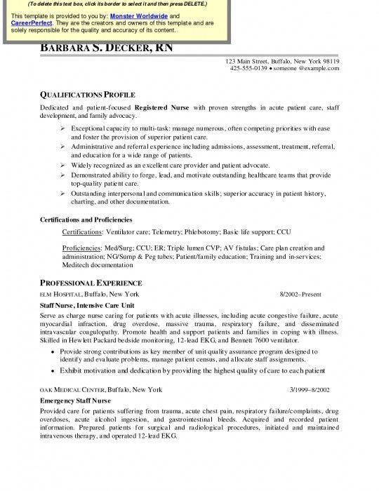 The Most Brilliant Med Surg Nurse Resume | Resume Format Web
