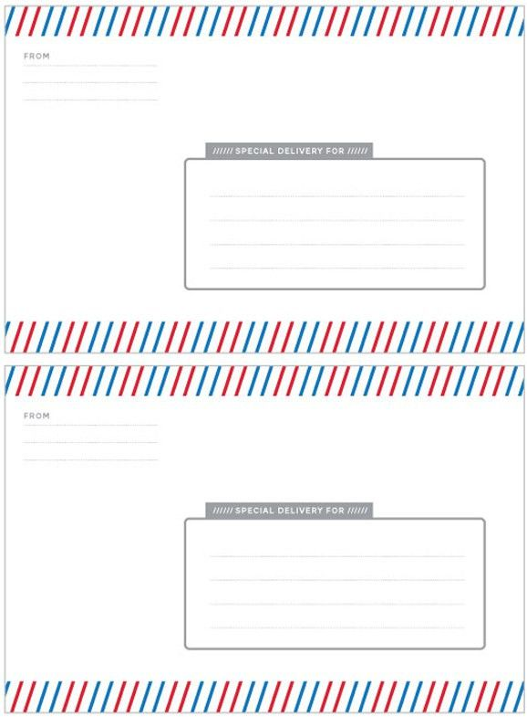 Special Delivery Label Template - Paging Supermom