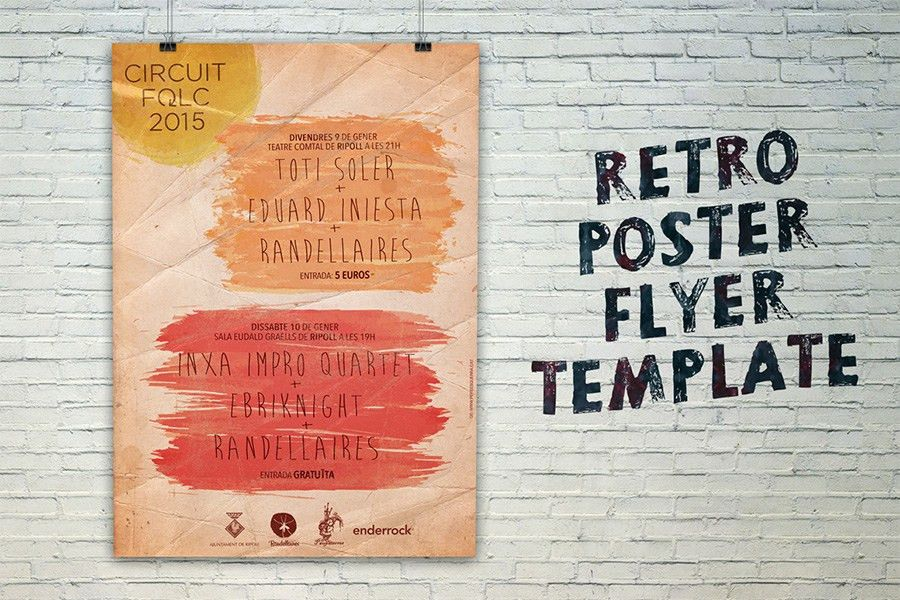 Retro Poster / Flyer Template - Free Design Resources