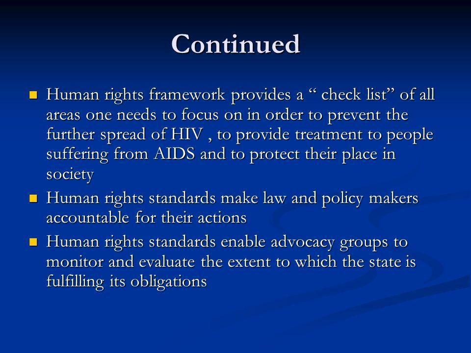 The Intersection between HIV/AIDS and human rights - ppt download