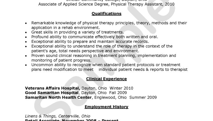 Physical Therapy Assistant Resume Physical Therapist Assistant ...