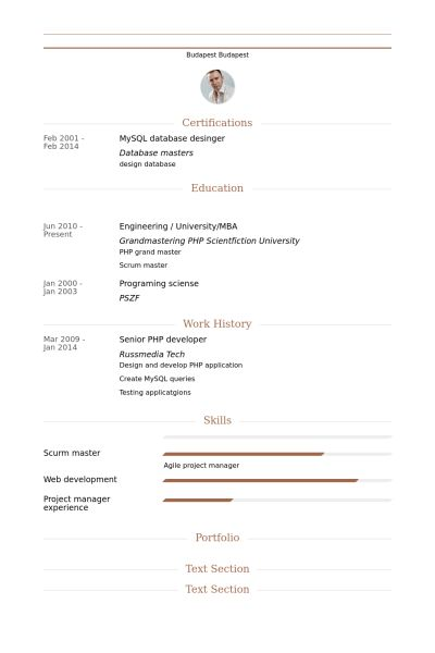 Php Developer Resume samples - VisualCV resume samples database