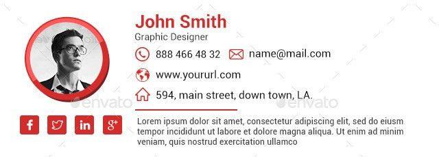 Email Signature Template. Responsive Email Signature + Builder ...