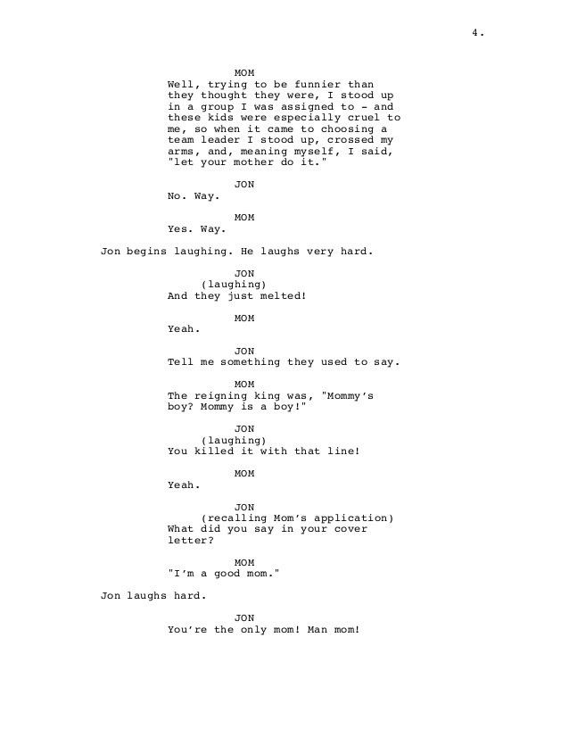 People You Hate (Things You Love) screenplay