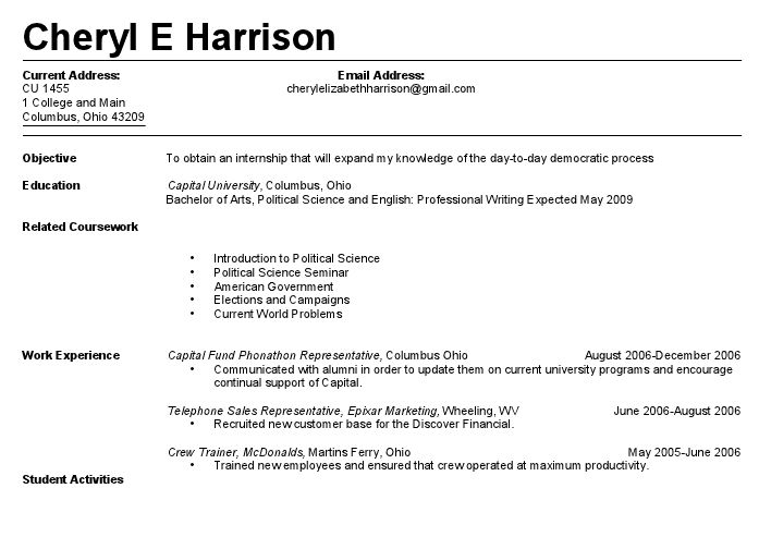 First Resume 20 - uxhandy.com