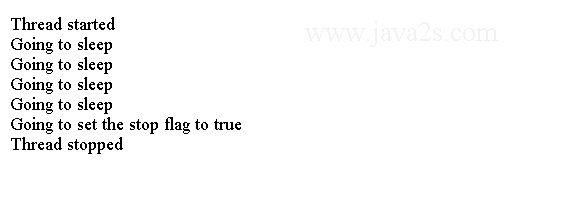 Java Thread Tutorial - Java Volatile Variables