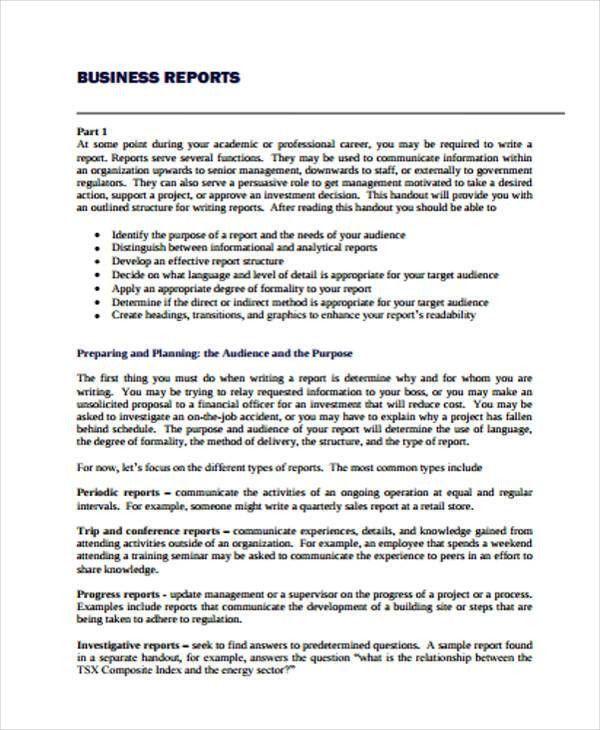 36+ Report Examples | Free & Premium Templates