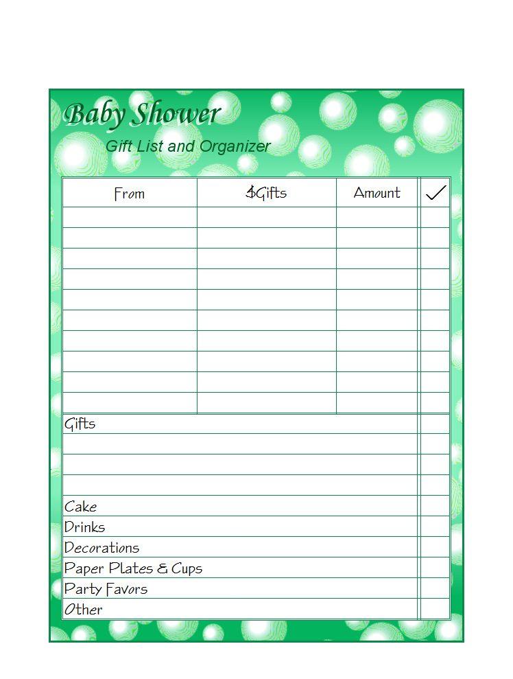 FREE Printable Gift Lists - Money Savers at Kid Scraps