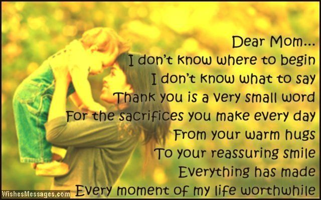 Thank You Mom: Messages and Quotes – Sms Text Messages